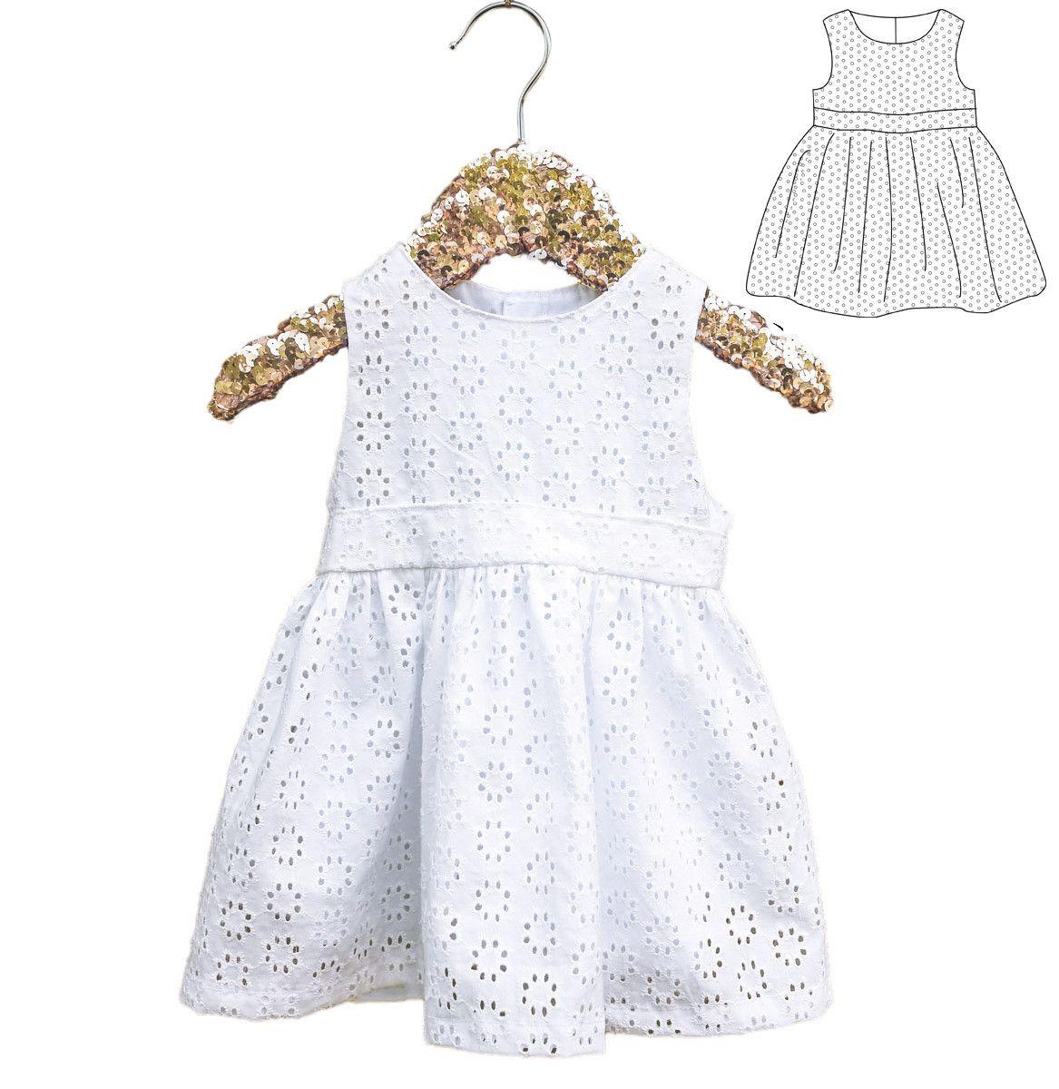 57875f7b659ed Patron de couture Robe sans manche ROMA PDF 6-24M
