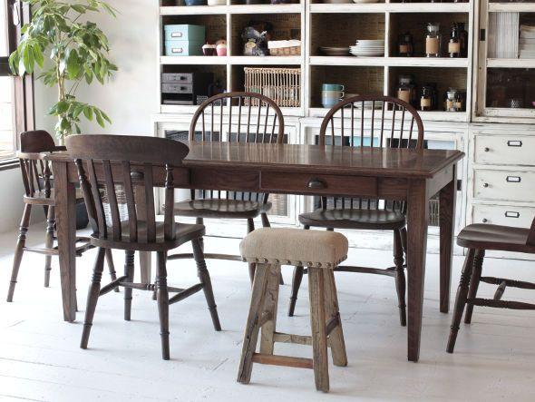 CRASH GATE Knot Antiques MOKKA STOOL #interior #industrial #diningroom  #chair #table
