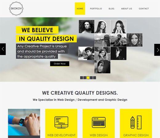 Skokov Corporate Flat Responsive web template Stuff to Buy - free business profile template