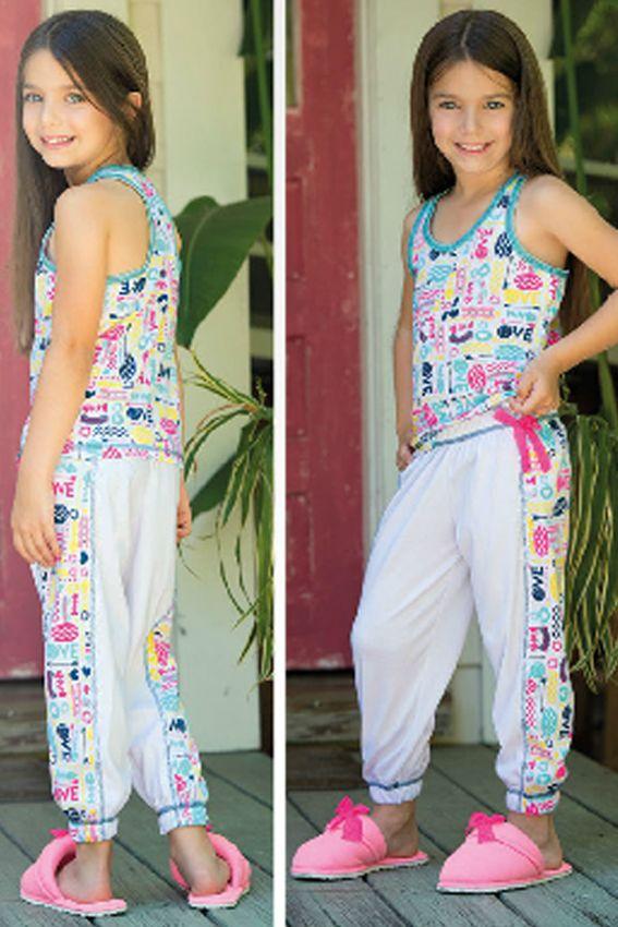 Pijama sisa pantalón Ref: 1660 Tallas: 2, 4, 6, 8, 12,14,16 Colores: menta, lila, coral neón