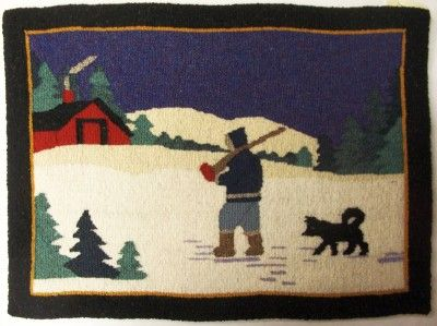 Antique Grenfell Hooked Rug From Newfoundland History And