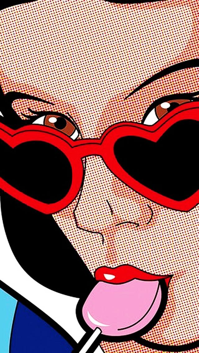 pop art girl wallpaper tumblr - photo #27