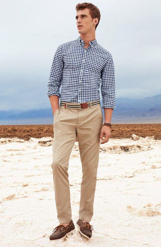 a3102bb562e navy-and-white-long-sleeve-shirt-khaki-chinos-dark-brown-boat-shoes-tan -belt-original-10435
