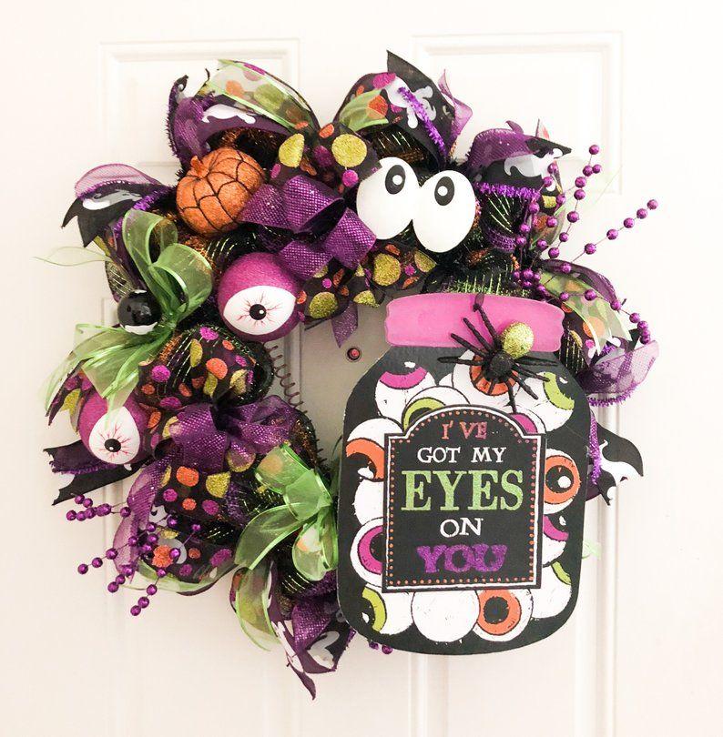 Halloween Wreath With Fun Googly Halloween Wreath Made With