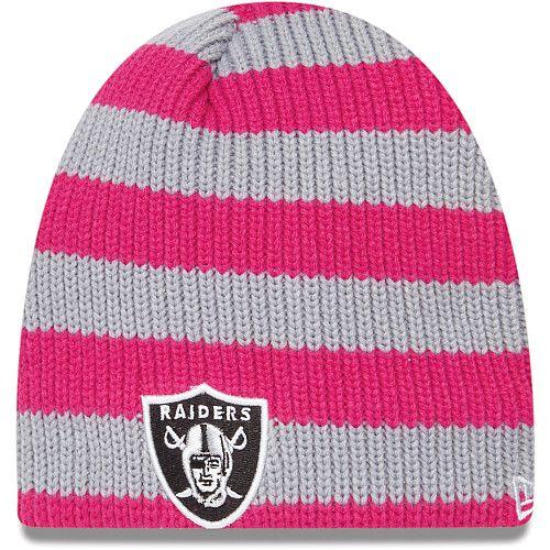 pretty nice 218a2 2361e Women's New Era Oakland Raiders Breast Cancer Awareness Knit ...