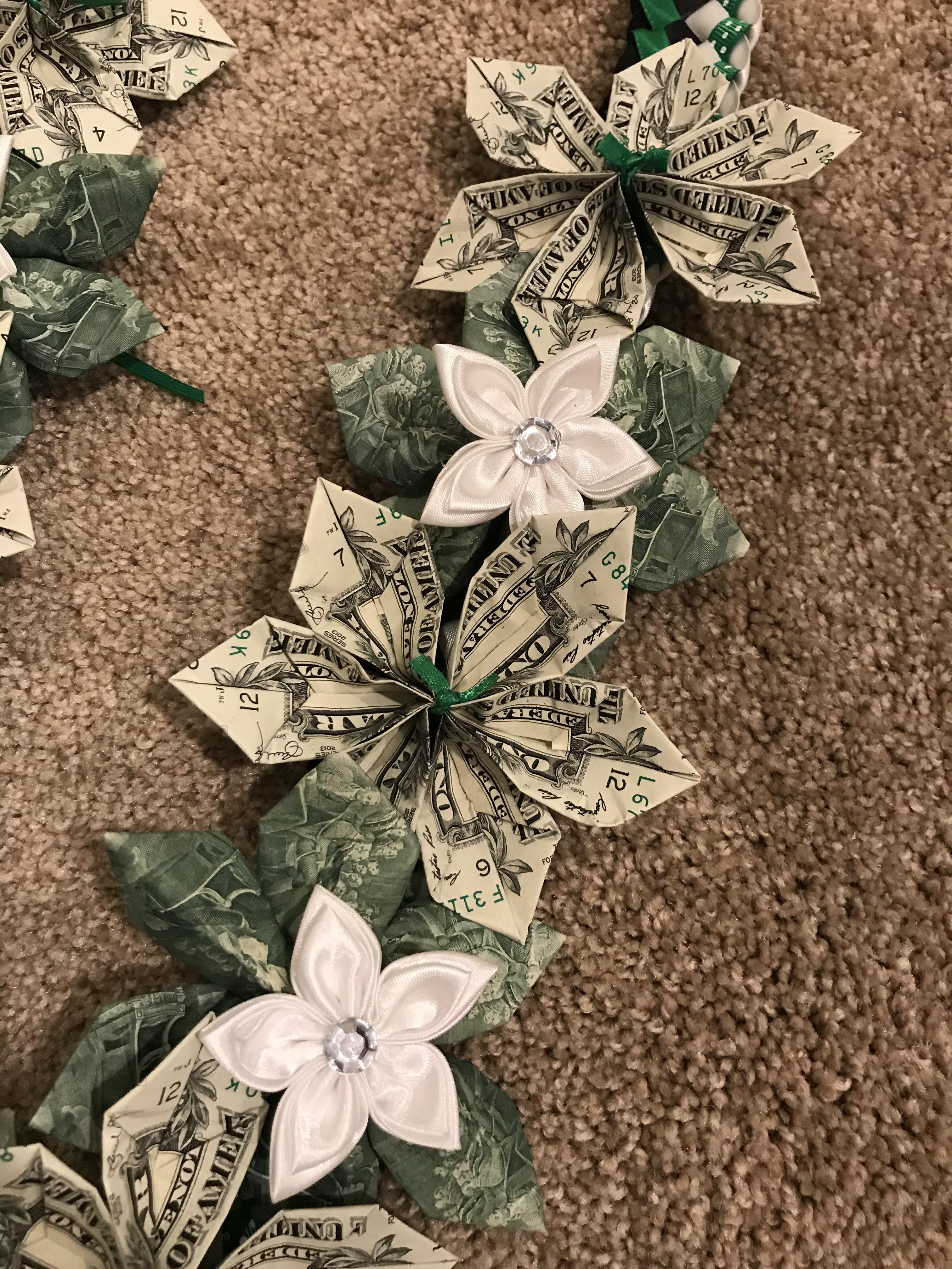 Origami Money Flowers Lei Creations Pinterest Money Flowers
