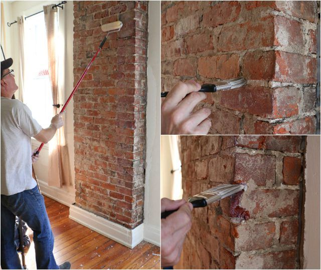 How To Remove Plaster From A Brick Chimney Ehow Brick Sealer Exposed Brick Kitchen Brick Chimney