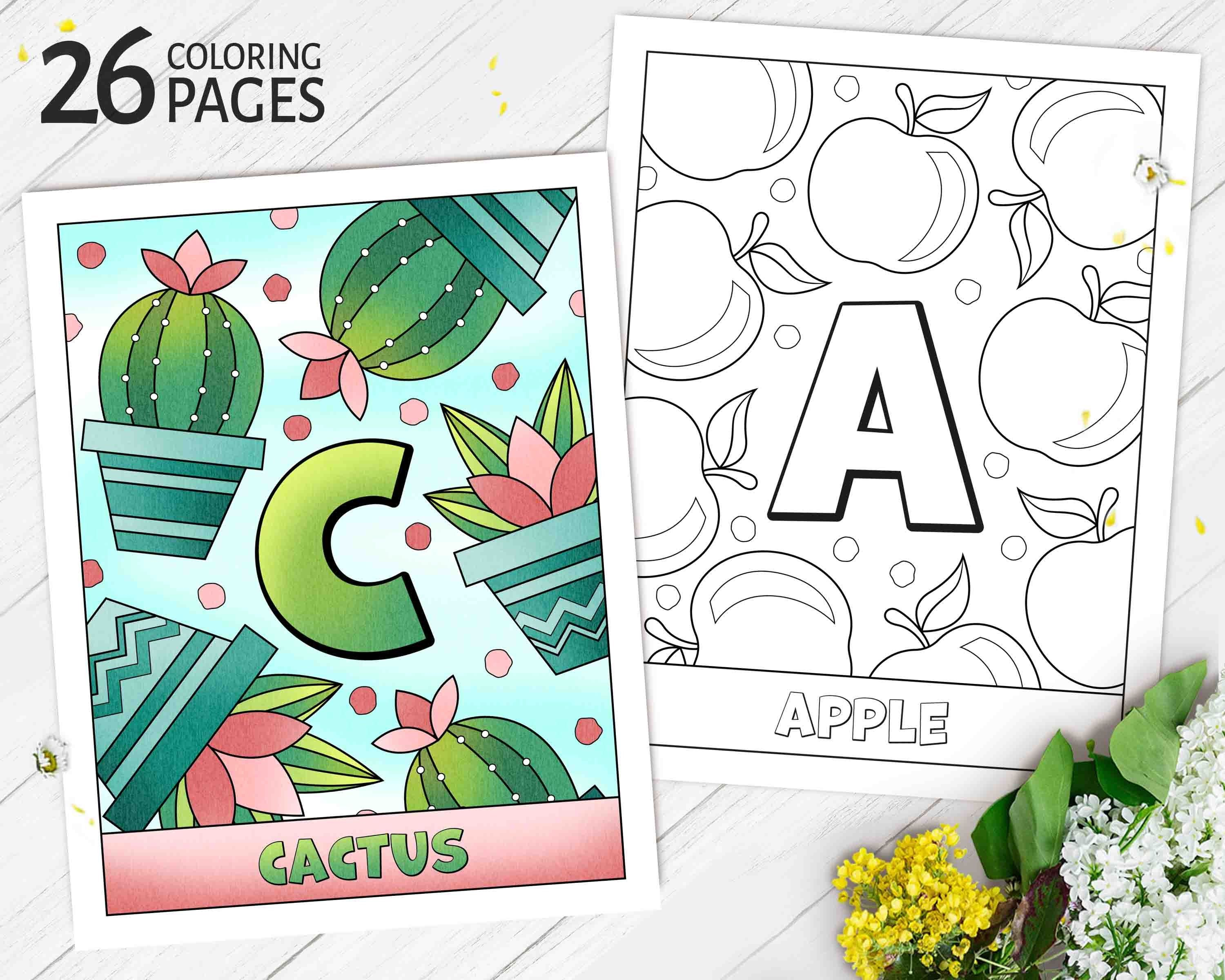 Abc Coloring Book For Baby Shower