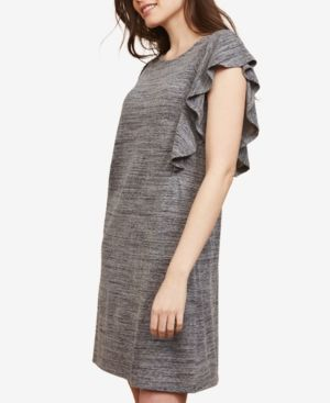 4dfaec0f03f Motherhood Maternity Ruffled Nursing Dress - Grey Spacedye XL