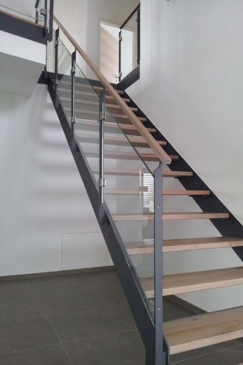 Stahl-Holz Treppe von TrepGo® u2026 Pinteresu2026 - holz treppe design atmos studio