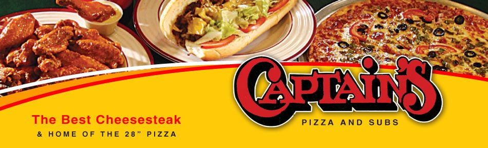 "Fast, FREE Delivery! We Deliver to all Ocean City, Fenwick & the Beach. Best Cheesesteak In Town and Home of the 28"" Pizza! Serving Ocean City Since 1975! Lunch & Dinner. Expanded Dining Room.  http://gooceancity.guide/business-directory/802/captains-pizza-and-subs/"