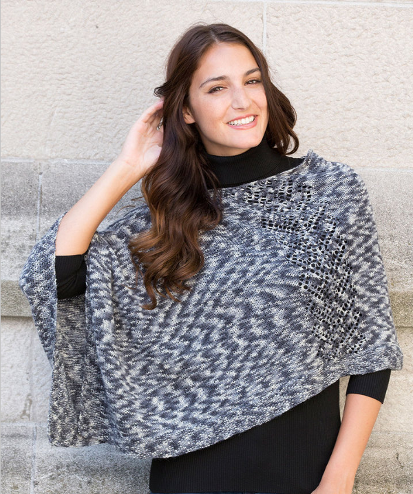 Free Pattern Friday Knit Poncho Pattern From Red Heart Knitted