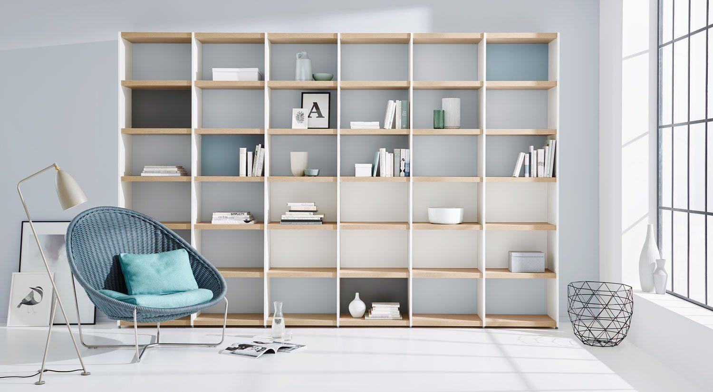 Bücherregal System regalsystem bücherregal yomo weiß eiche im wohnzimmer haus
