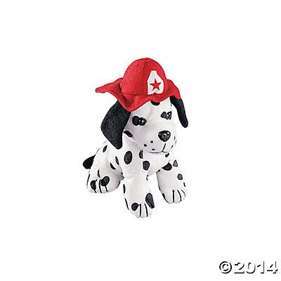 Plush Dalmatians With Fire Hat Buy In Bulk 12 For 24 99 Fire