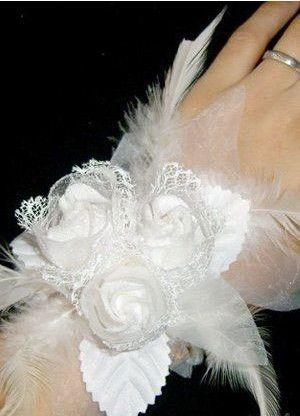 Elegant White Cloth Villus Bridal Wrist Corsages - Wedding Flowers - Accessories