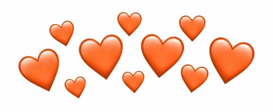 Download Png Download Source Orange Heart Heartcrown Emoji Emojiiphone Emoji Png Images Backgrounds For Free Seach And Find Edicao De Fotos Fotos Edicoes