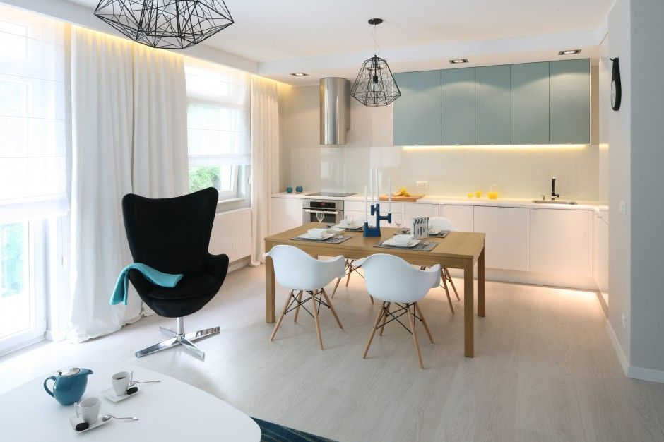 Salon Z Aneksem Kuchennym 20 Praktycznych Sposobow Na Male Wnetrza Galeria Dobrzemieszkaj Pl Ikea Hack Living Room Open Plan Kitchen Living Room Home