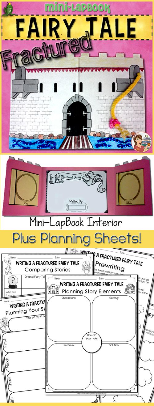 writing fractured fairy tales lapbook graphic organizers ela grades 3 6. Black Bedroom Furniture Sets. Home Design Ideas