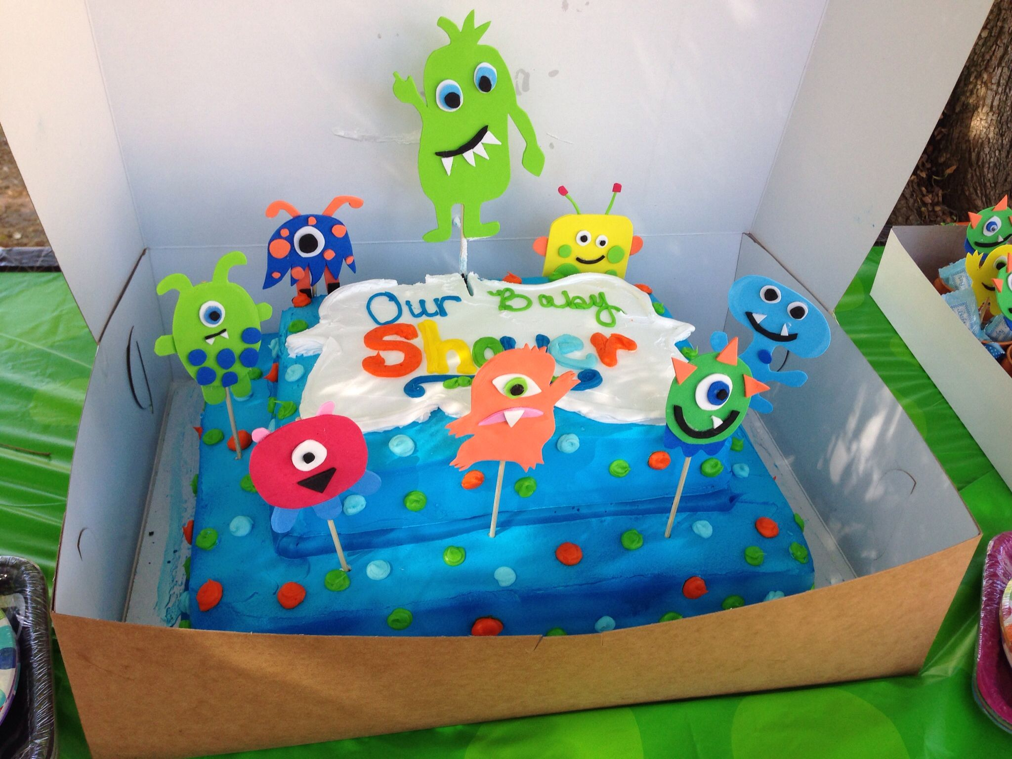 monster theme baby shower