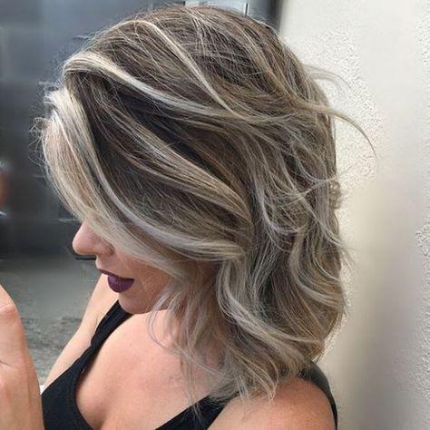 Mechas Platinadas Fotos Ideas Paso A Paso Cómo Hacerlas De Peinados Mechas Cabello Corto Coloración De Cabello Pelo Con Mechas