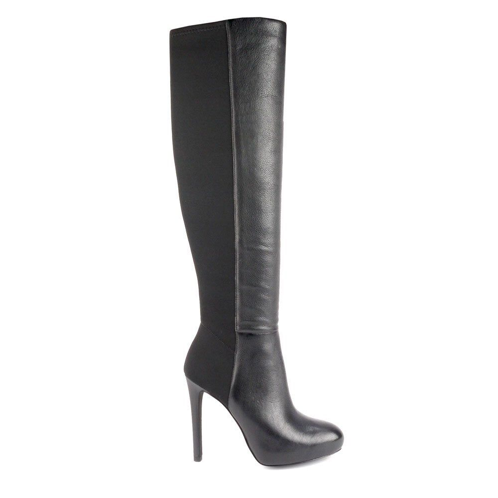 Ash Betsy Leather And Neoprene Knee High Boots
