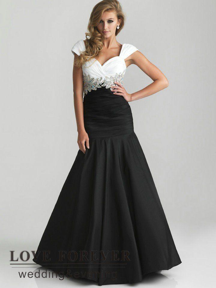 95ffed033230 vestidos en blanco y negro - Buscar con Google   ropa   Prom dresses ...
