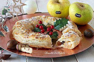 Photo of Ghirlanda natalizia di mele e castagne (Rossella In Padella)