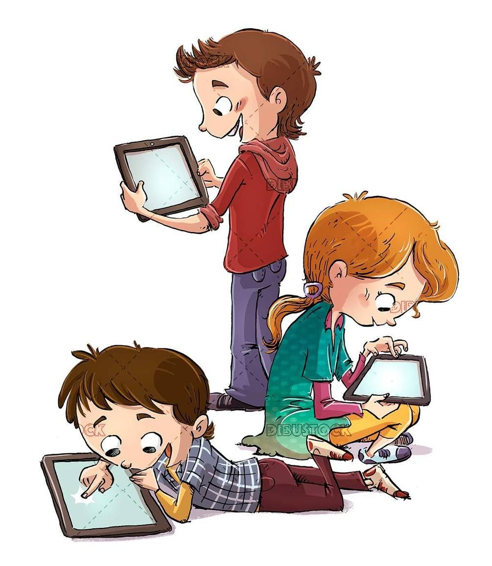 Three children using tablets in 2020 Games to play with