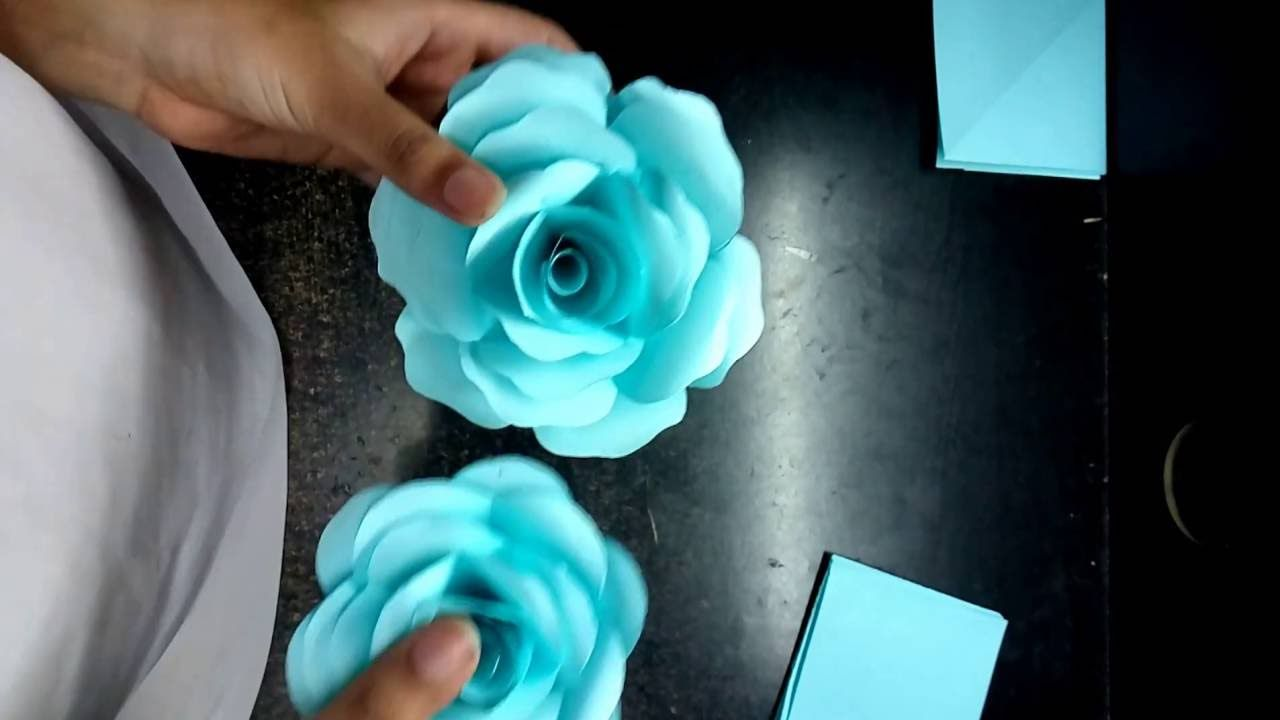 How To Make Realistic And Easy Paper Roses Complete Tutorial