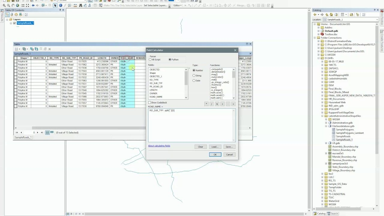 ArcGIS 10.x Field Calculator Split String get First or Secont value of  splitted string