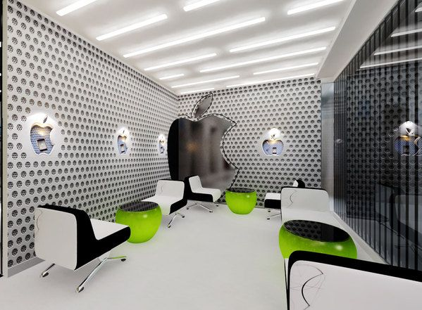 Chic Contemporary Spaces Rendered By Anh Nguyen: APPLE OFFICE By Tram.ANH NGUYEN, Via Behance
