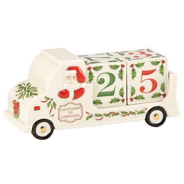 Santa's Countdown Truck Figurine by Lenox