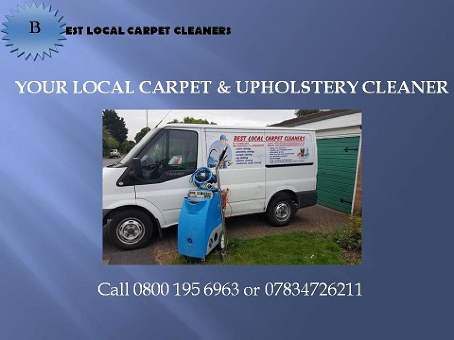 They are a small family carpet & upholstery cleaning company