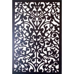 Acurio Latticeworks 1 4 In X 32 In X 4 Ft Black Ginger Dove Vinyl Decor Panel 3248pvcbk Gndv At The Decorative Screen Panels Decorative Screens Vinyl Decor