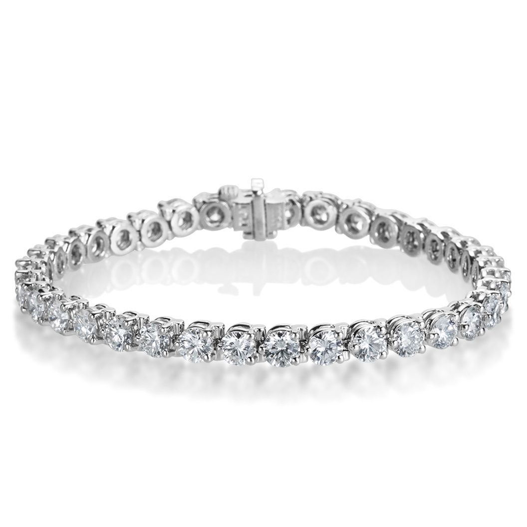 SummerRose Platinum 10 7/8ct TDW Diamond Tennis Bracelet