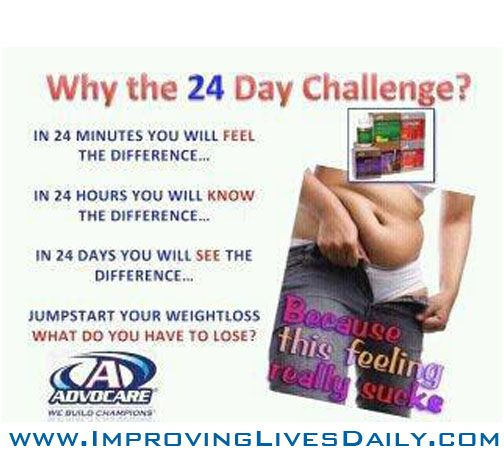 www.ImprovingLivesDaily.com  Real Results... Jason just measured is down 24lbs and 11.75 inches in the 24 days. More to come.