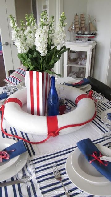 Ideas Original To Decorate Your Table This Season Tons Of Ideas For Your  Labor Day Celebration. From Nautical To Colorful To Patriotic.how Will You  Decorate ...