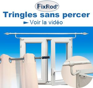 Tringle sans percer pour coffre de volet roulant secodir for Tringle extensible par pression