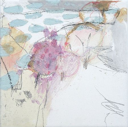 Mayako Nakamura Jyugatsu no kumofuru (October clouds fall), 2009, mixed media on canvas