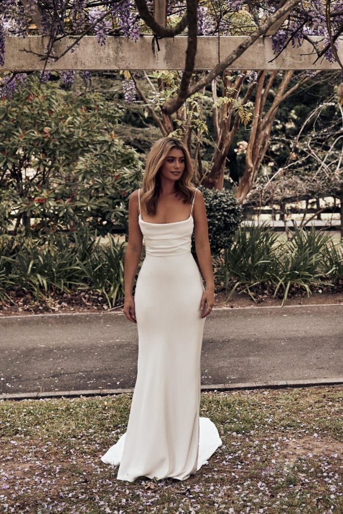Honey Silk Gown   Silk Wedding Dress   Grace Loves Lace 5