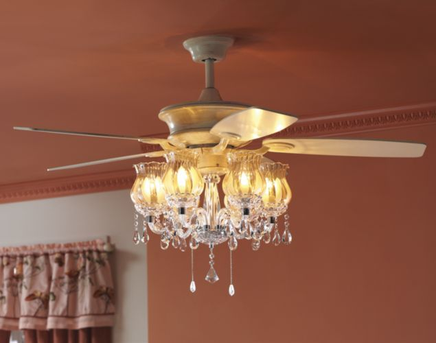 Romantic Ceiling Fan from Seventh Avenue