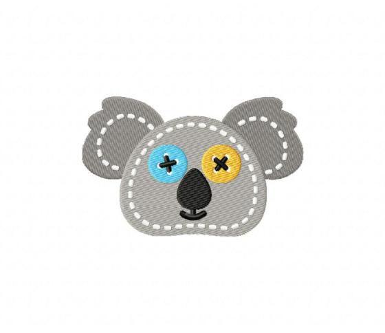 Stitched Koala Head Stitched 5