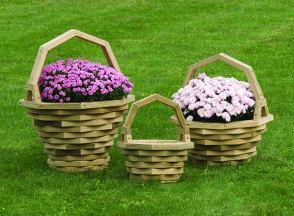 Wooden Flower Basket Planter Google Search Me Wooden Flowers