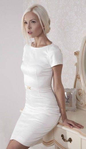 Awesome Casual Wedding Dresses Short Satin Dress For Older Brides Over 40 50 60 70 Elegant S