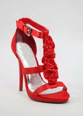 "Red Prom shoes with 4.5"" heels and .5"" platform (Style 200-11 ..."