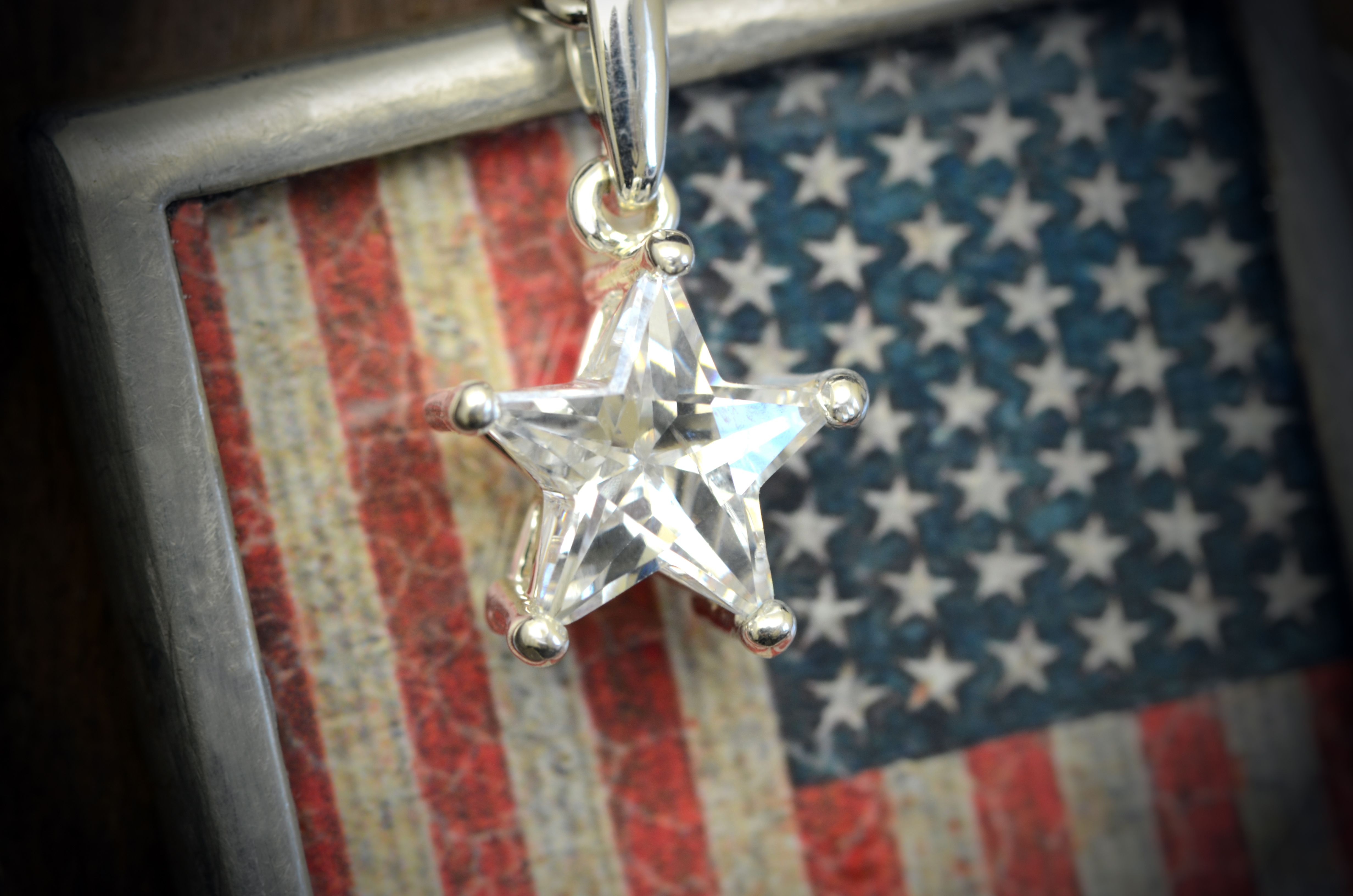 Item accented with item Jeweled Star Crystal