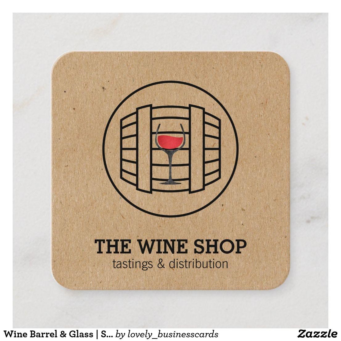 Wine Barrel Glass Sommelier Square Business Card Zazzle Com Wine Wine Tasting Barrel