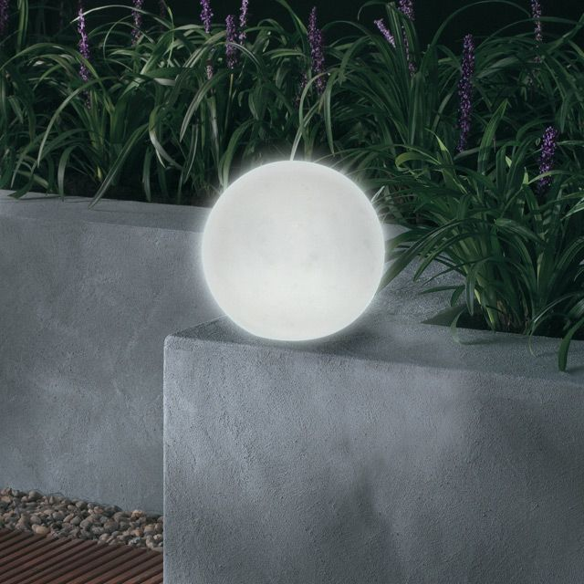 Lampe Solaire Exterieure Circulo Blanche Translucide Castorama