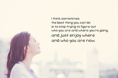 We should sometimes just...let it go.