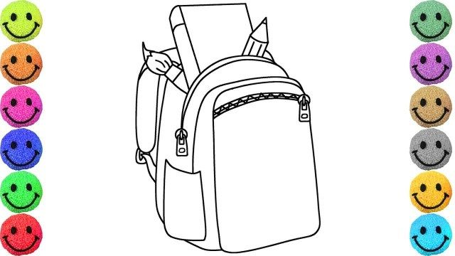 Beautiful Photo Of Backpack Coloring Page Printable Coloring